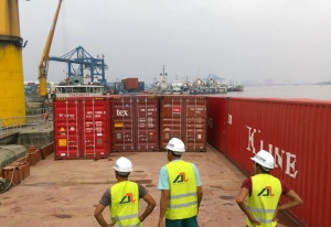 Container barging to Phu Quoc island.